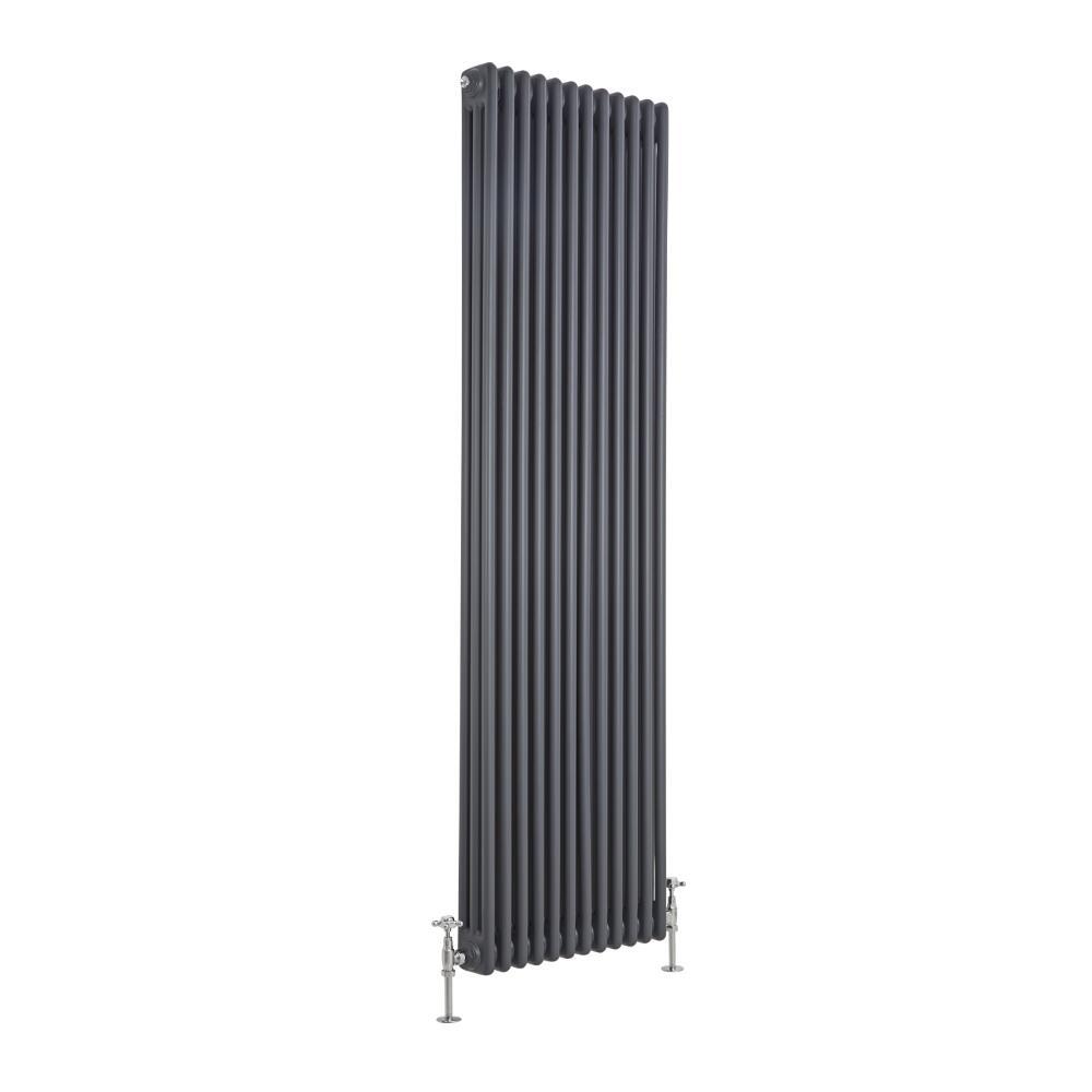 Hudson Reed ES Radiador de Diseño Vertical Triple Tradicional - Antracita - 1800mm x 563mm x 100mm - 2338 Vatios - Regent
