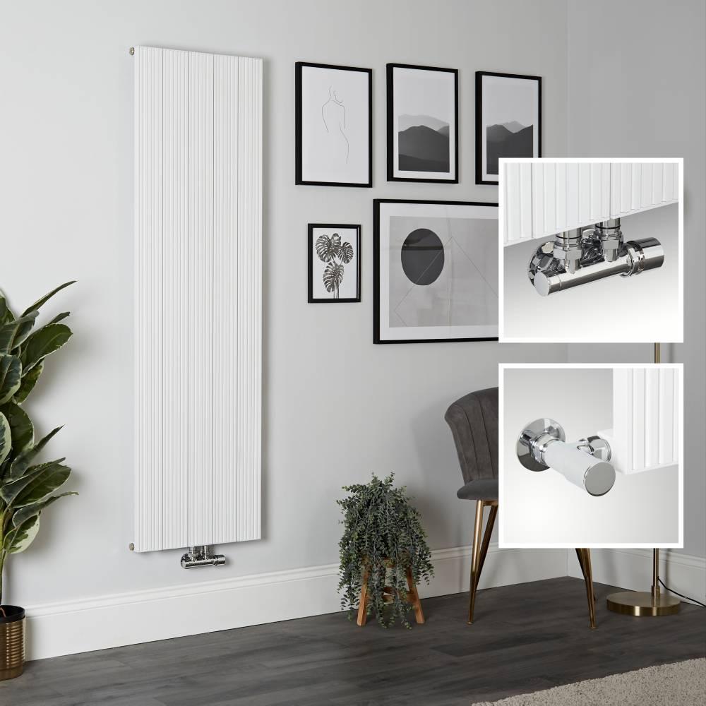 Radiador de Diseño Vertical en Aluminio de Color Blanco - 1600mm x 470mm - Lex